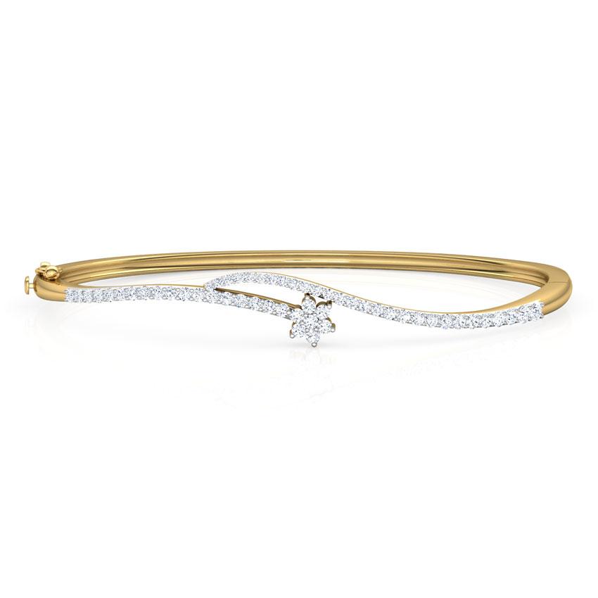 Diamond Bracelets 18 Karat Yellow Gold Mansi Twist Diamond Bracelet