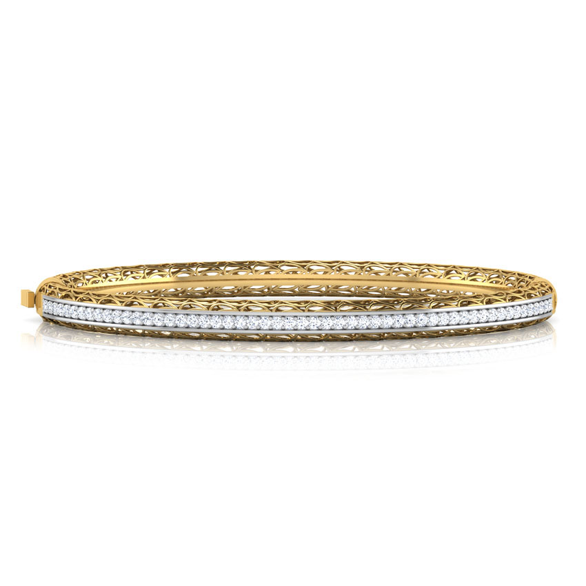 Diamond Bracelets 18 Karat Yellow Gold Janet Trellis Diamond Bracelets