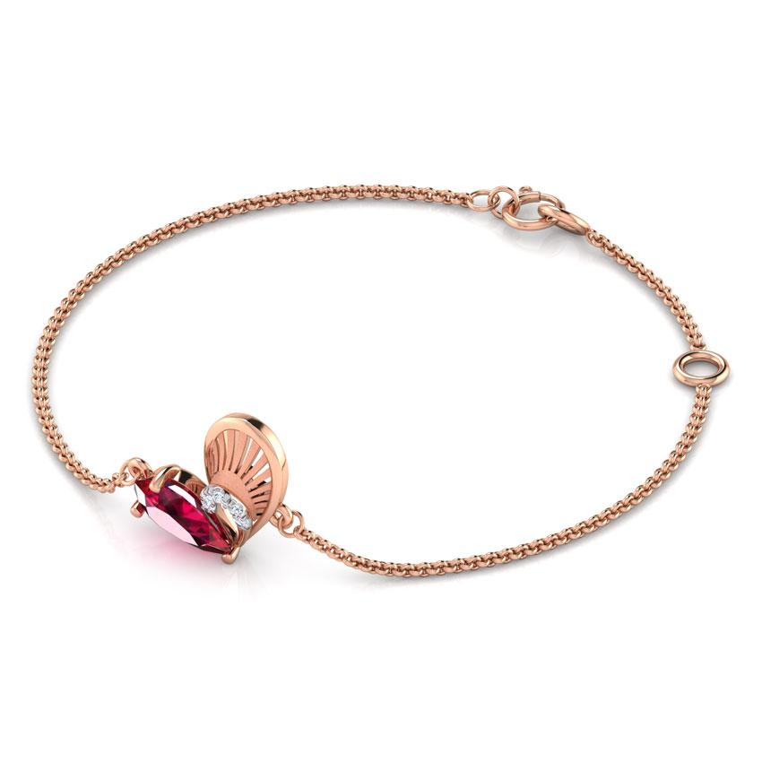 Diamond,Gemstone Bracelets 18 Karat Rose Gold Esme Hug Me Gemstone Bracelet