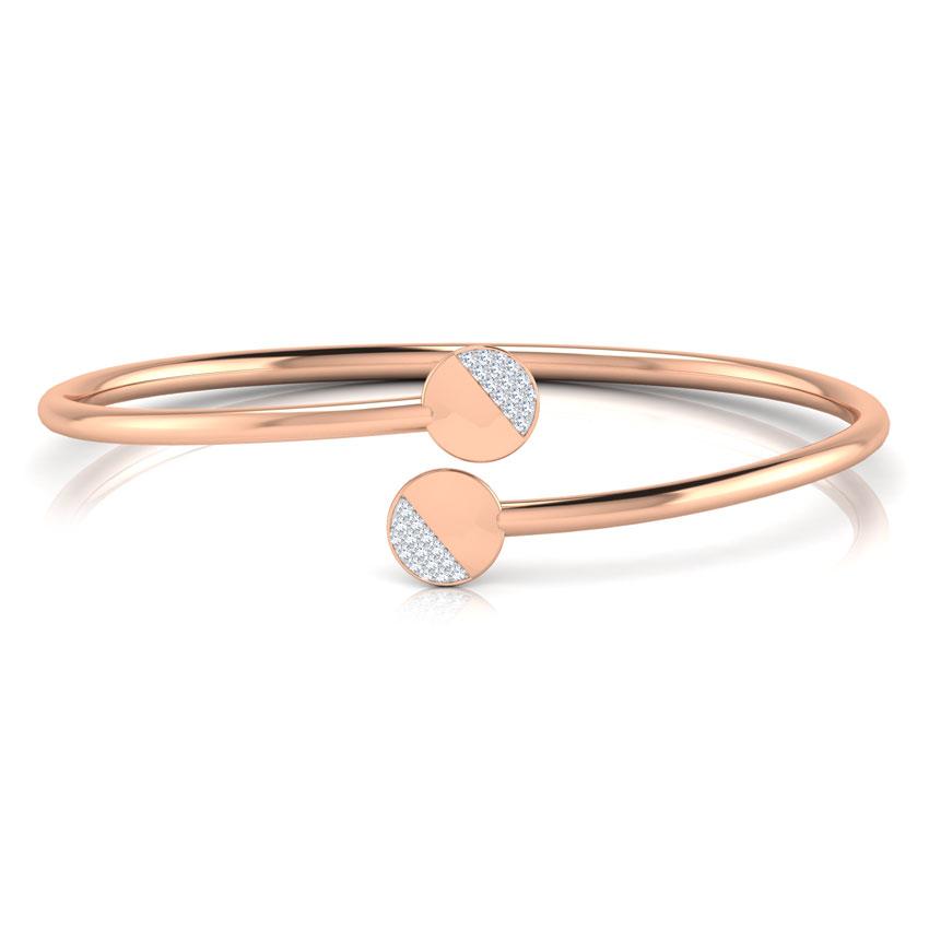 Diamond Bracelets 18 Karat Rose Gold Hallie Stamped Bracelet