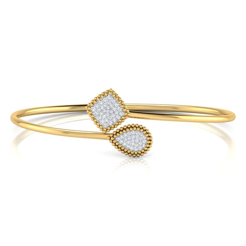 Diamond Bracelets 18 Karat Yellow Gold Encrusted Bracelet