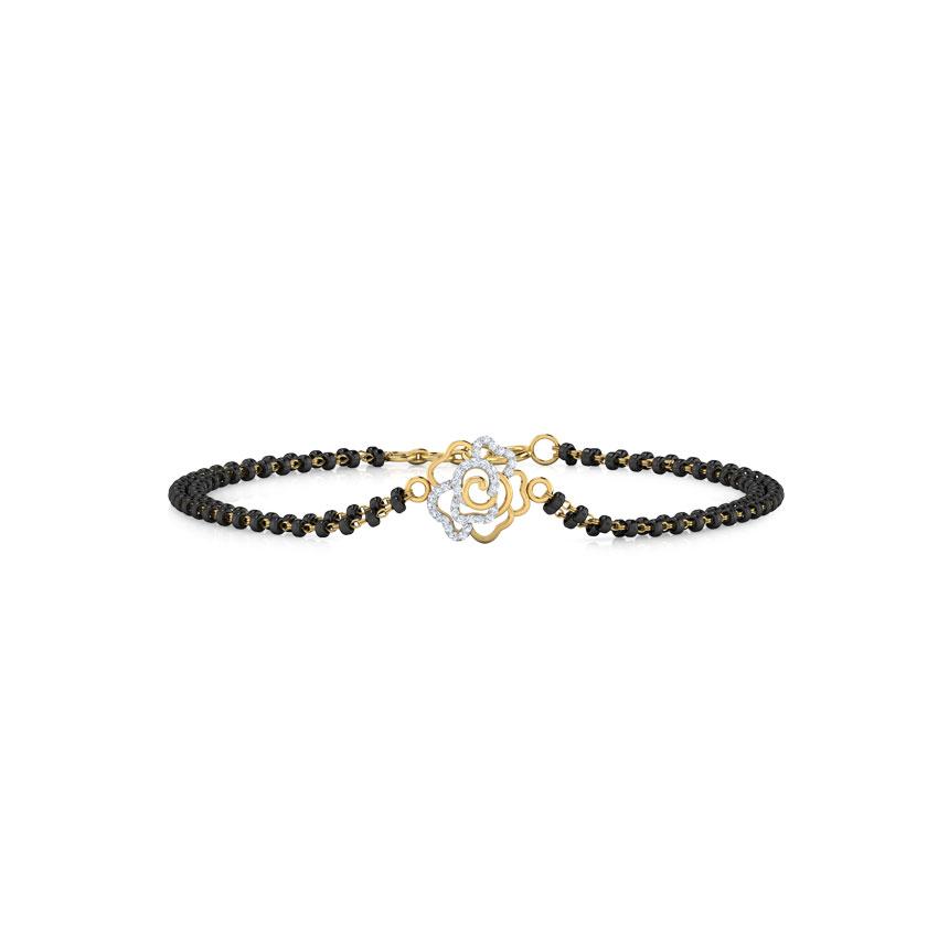 Diamond Bracelets 18 Karat Yellow Gold Anaisha Diamond Mangalsutra Bracelet