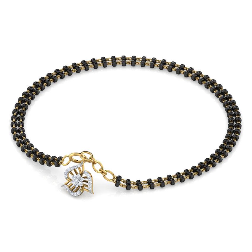 Diamond Bracelets 18 Karat Yellow Gold Shanaya Diamond Mangalsutra Bracelet