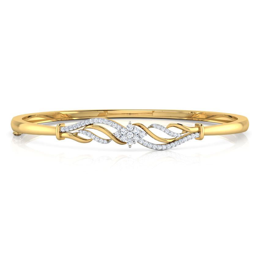 Sparkling Curve Bracelet