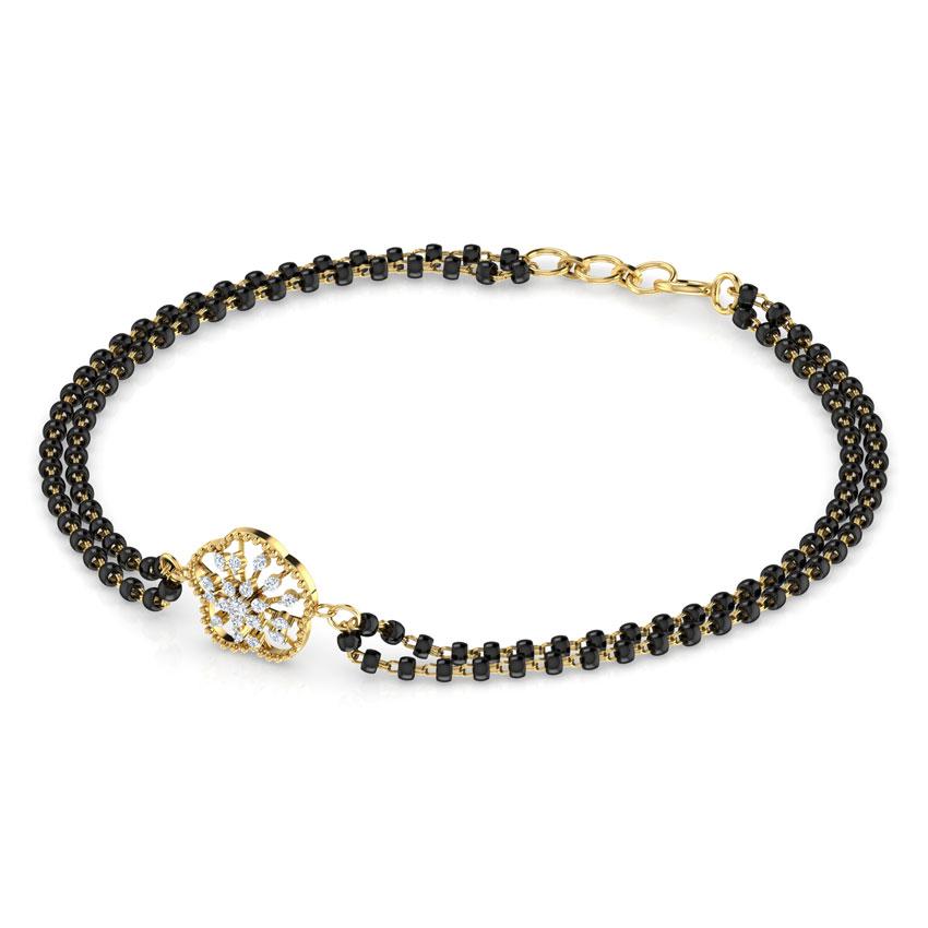 Diamond Bracelets 18 Karat Yellow Gold Aanya Diamond Mangalsutra Bracelet