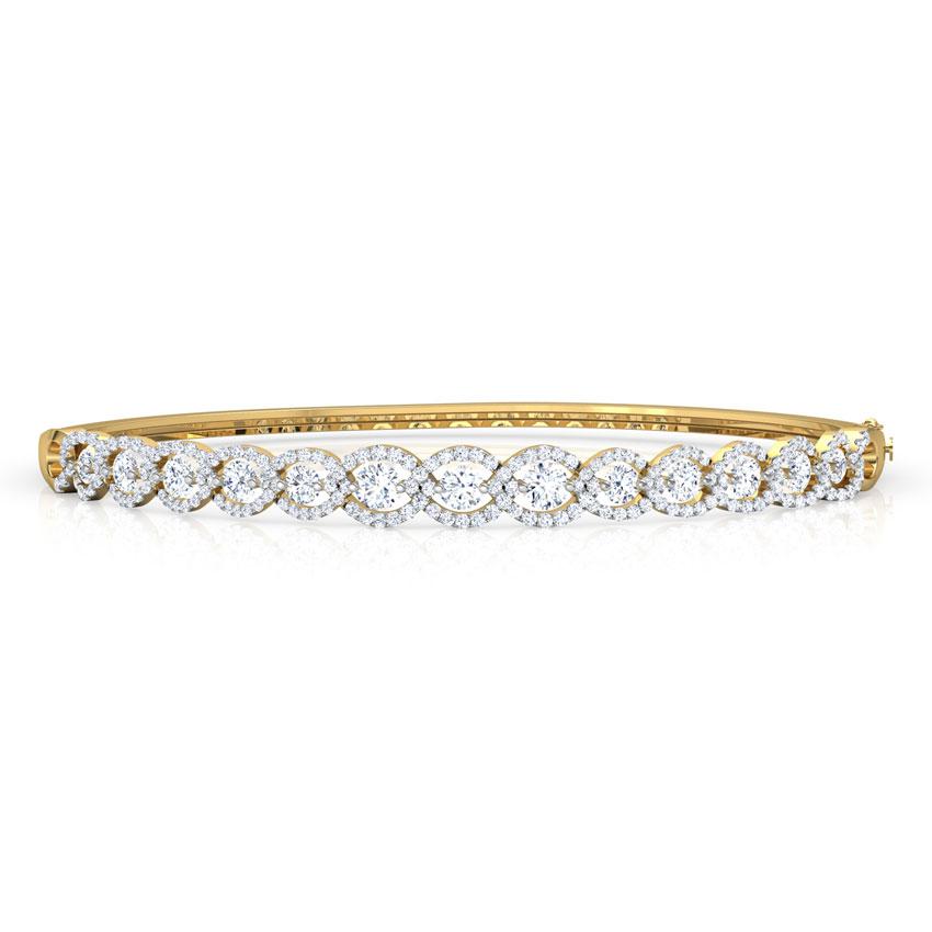 Diamond Bracelets 18 Karat Rose Gold Linear Orb Diamond Bracelet