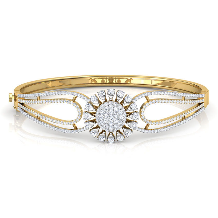 Diamond Bracelets 18 Karat Yellow Gold Daisy Flower Bracelet