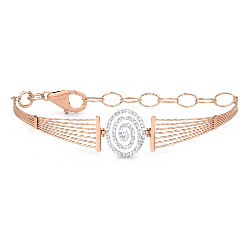 Whirl Diamond Bracelet