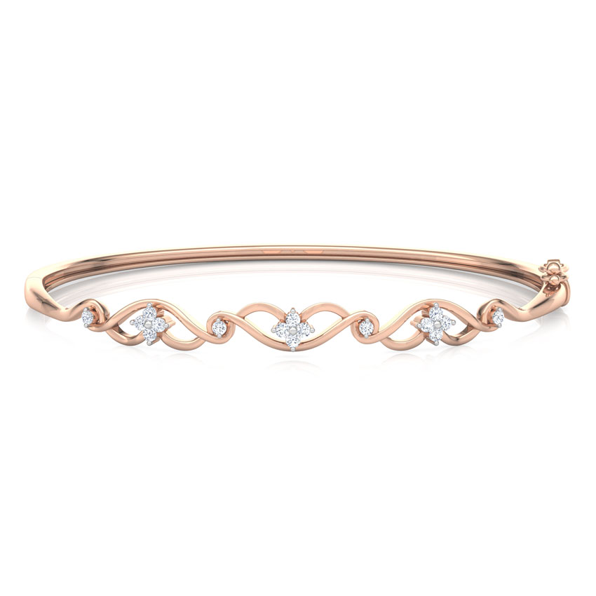 Diamond Bracelets 18 Karat Rose Gold Interlace Diamond Bracelet