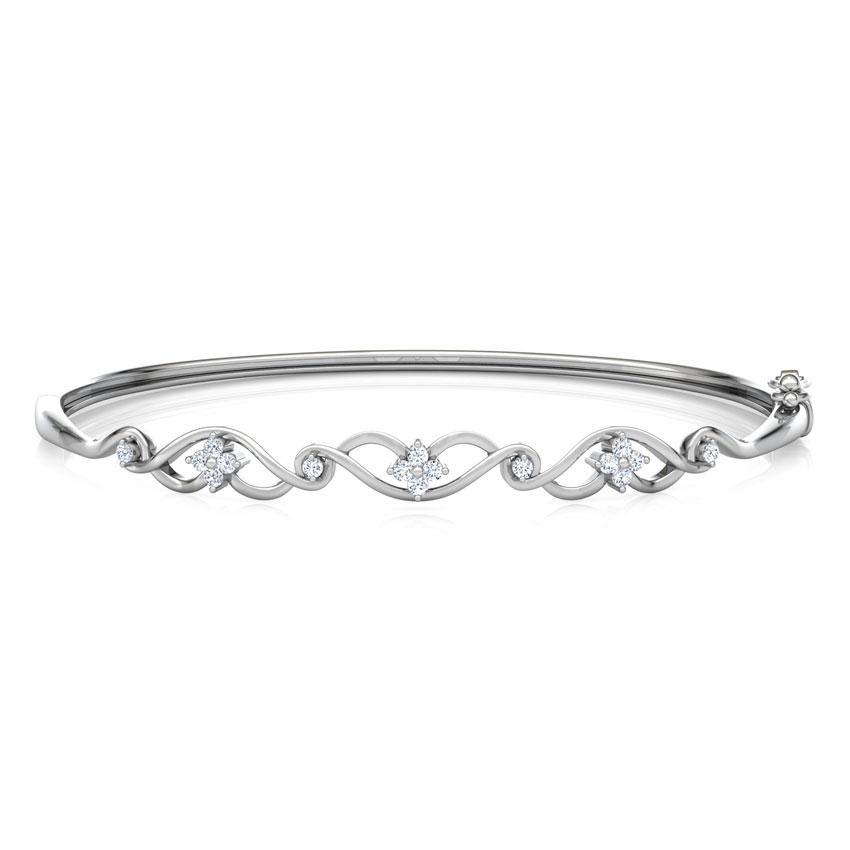 Diamond Bracelets 18 Karat White Gold Interlace Diamond Bracelet