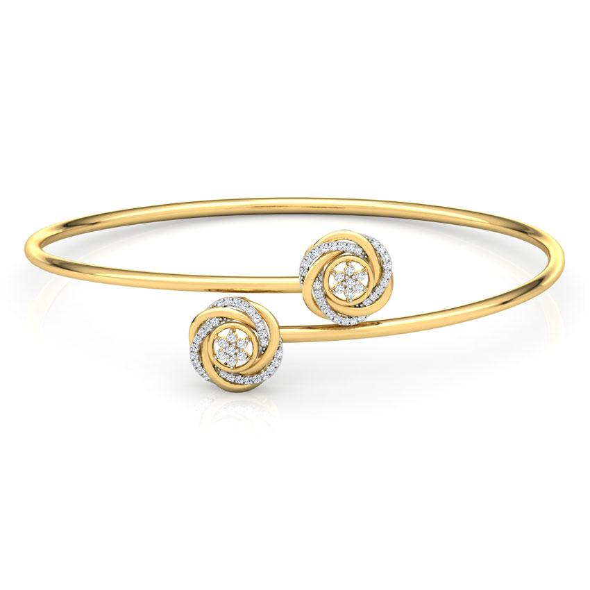 Swerve Diamond Bracelet
