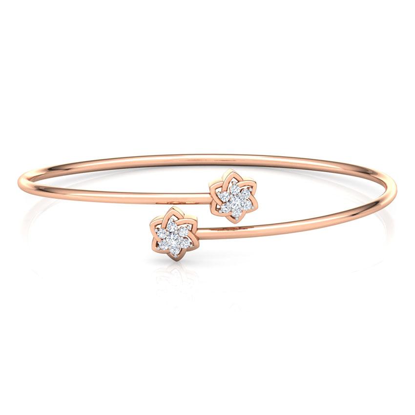 Diamond Bracelets 14 Karat Rose Gold Twinkle Diamond Bracelet