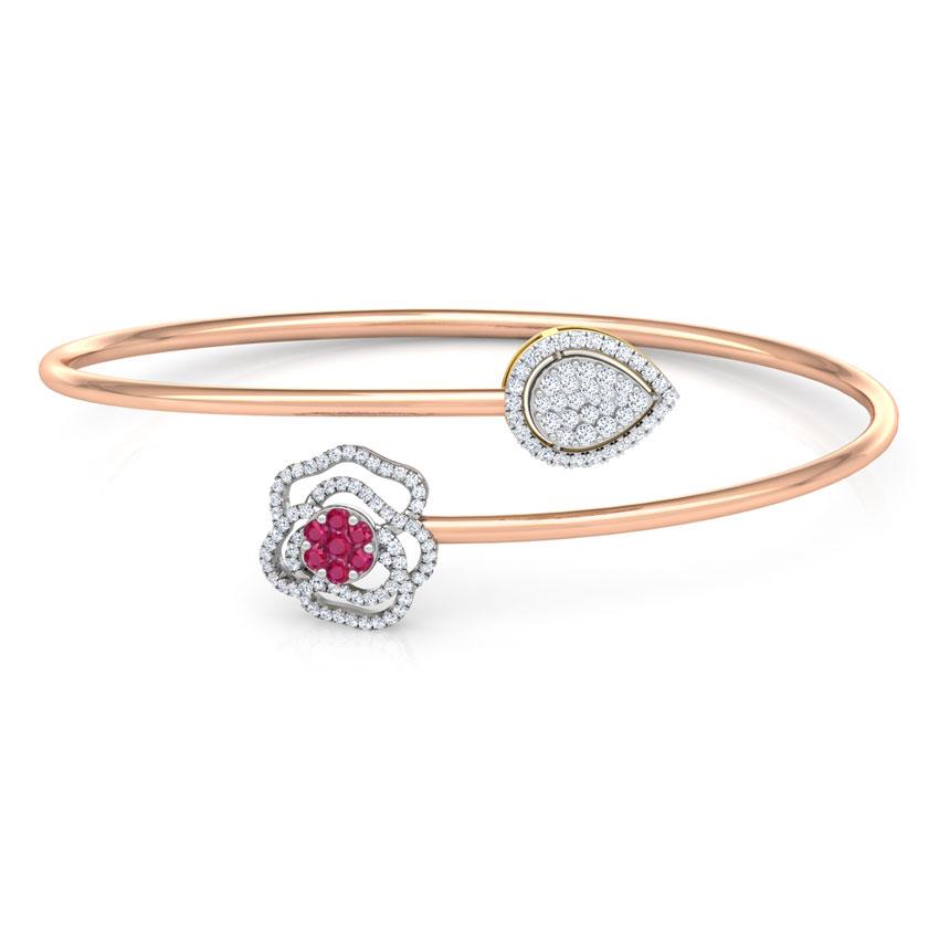 Bloom and Drop Diamond Bracelet