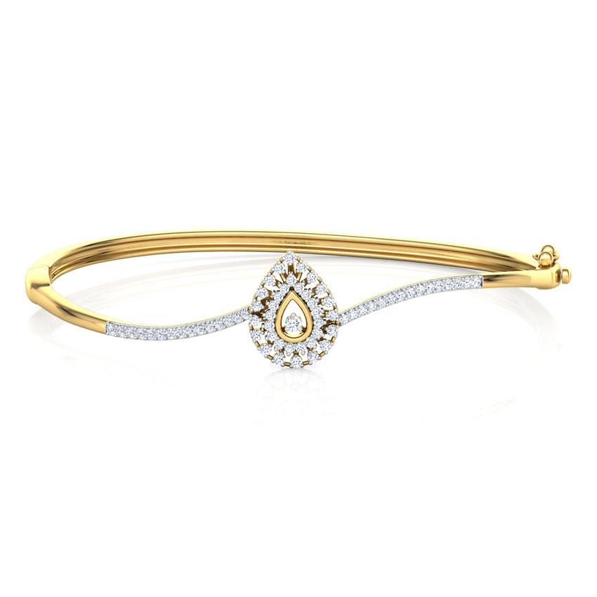 Sparkling Drop Diamond Bracelet