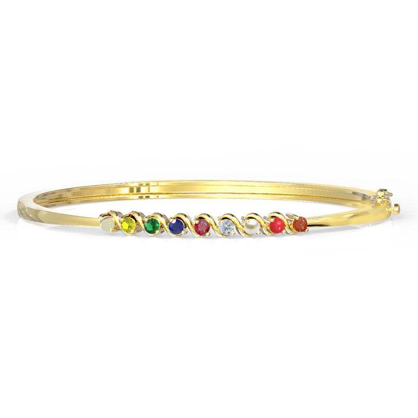 Sleek Navratna Bracelet
