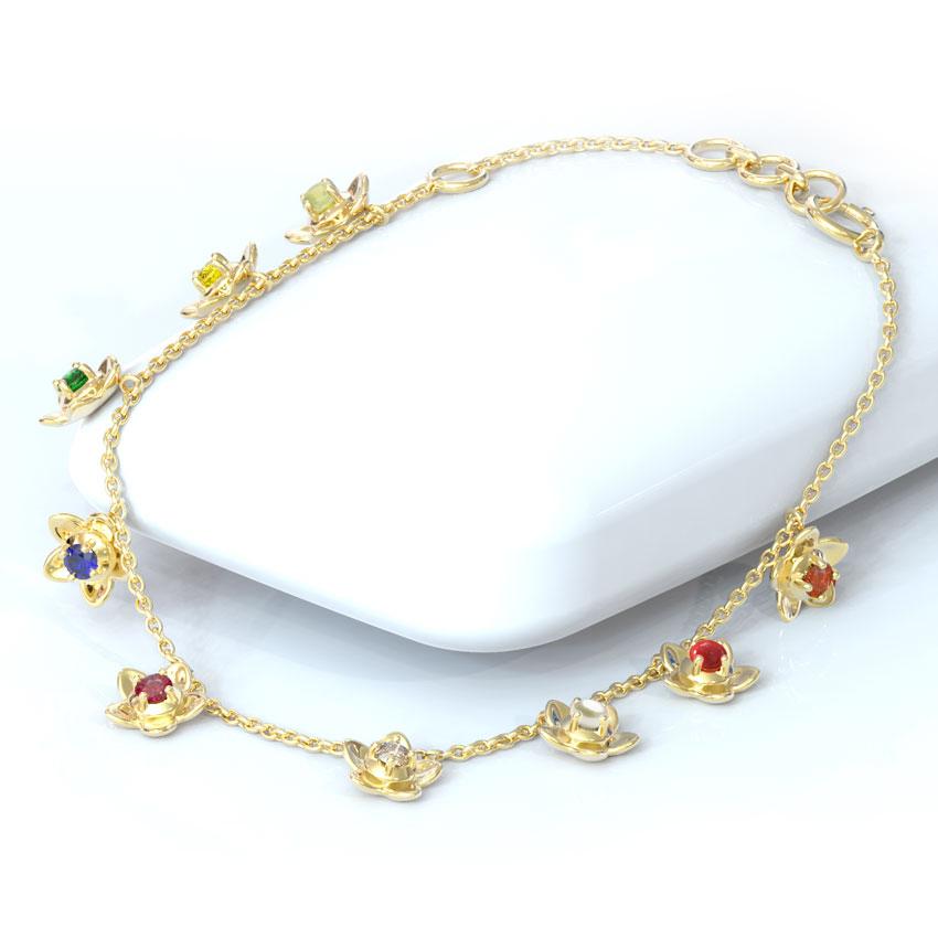 Blossom Navratna Bracelet