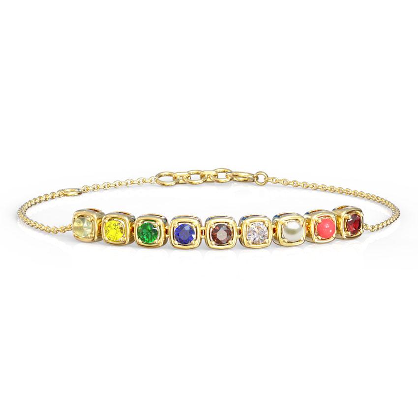 Delicate Navratna Bracelet
