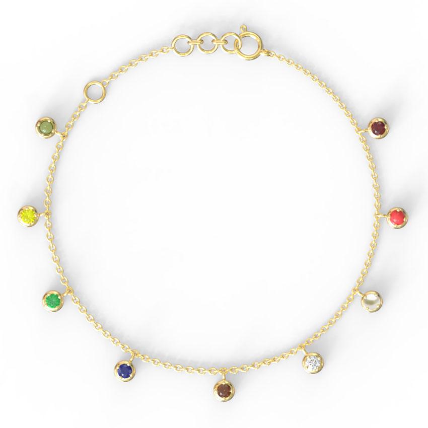 Swing Navratna Bracelet