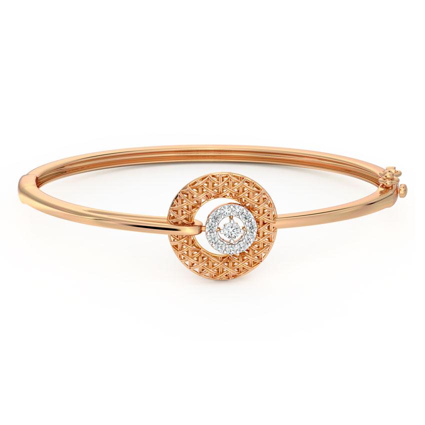 Diamond Bracelets 18 Karat Rose Gold Ornate Interlaced Diamond Bracelet