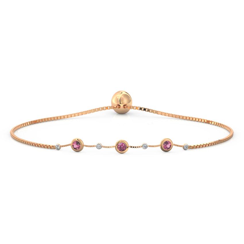 Diamond,Gemstone Bracelets 18 Karat Rose Gold Dewdrops Diamond Adjustable Bracelet