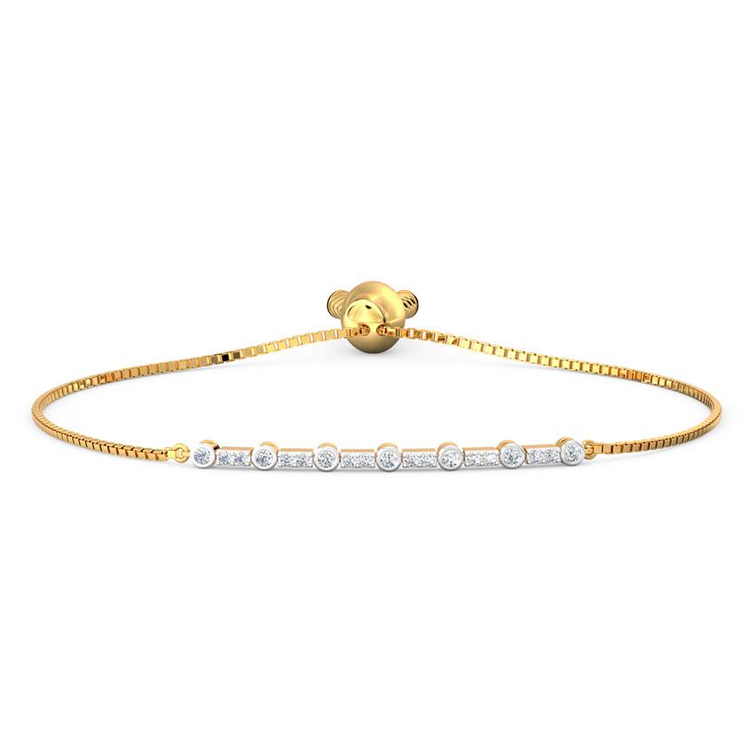 Diamond Bracelets 18 Karat Yellow Gold Classic Diamond Adjustable Bracelet