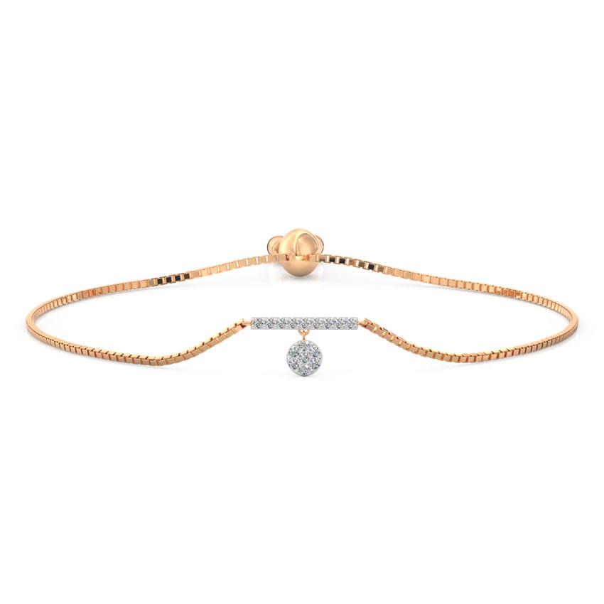 Diamond Bracelets 18 Karat Rose Gold Dangling Adjustable Diamond Bracelet