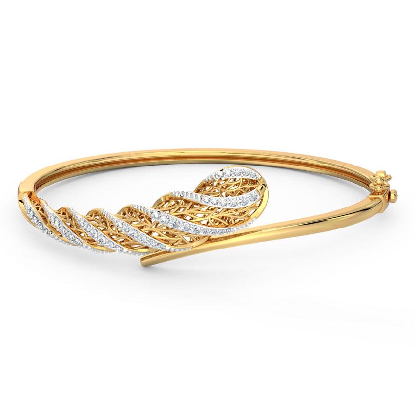 Diamond Bracelets 18 Karat Yellow Gold Cacti Fractal Diamond Bracelet