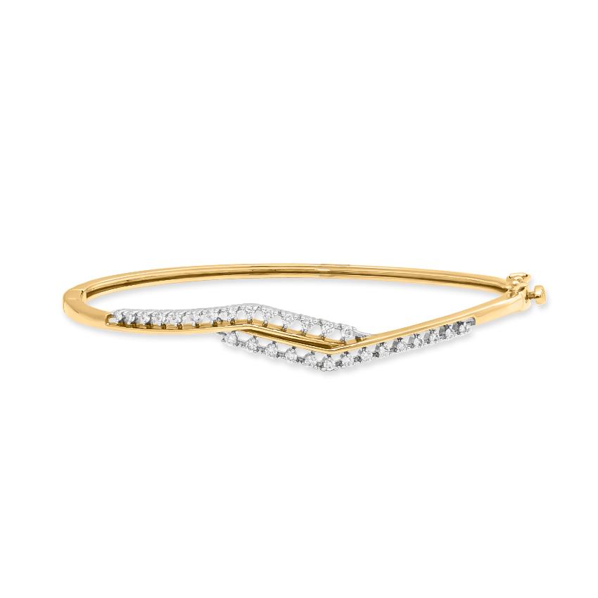Diamond Bracelets 18 Karat Yellow Gold Elsi Oval Diamond Bracelet