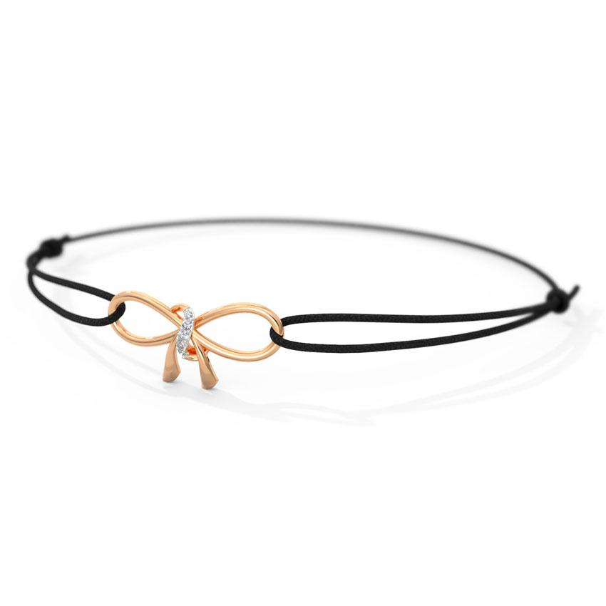 Diamond Bracelets 14 Karat Rose Gold Bow Diamond Bracelet