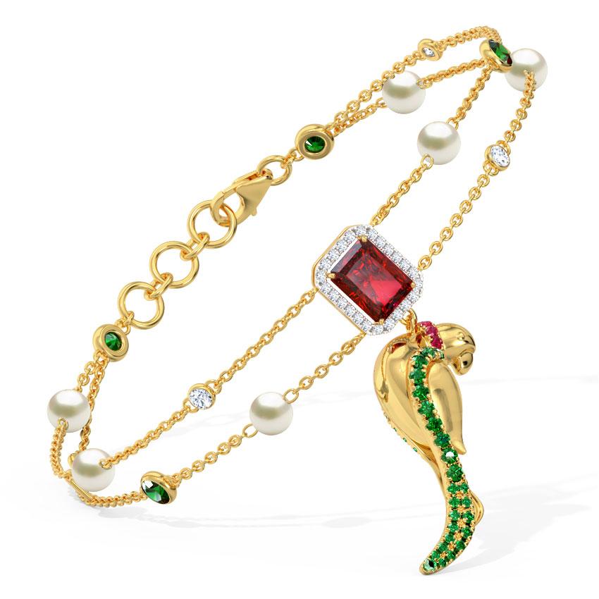 Dainty Parrot Bracelet