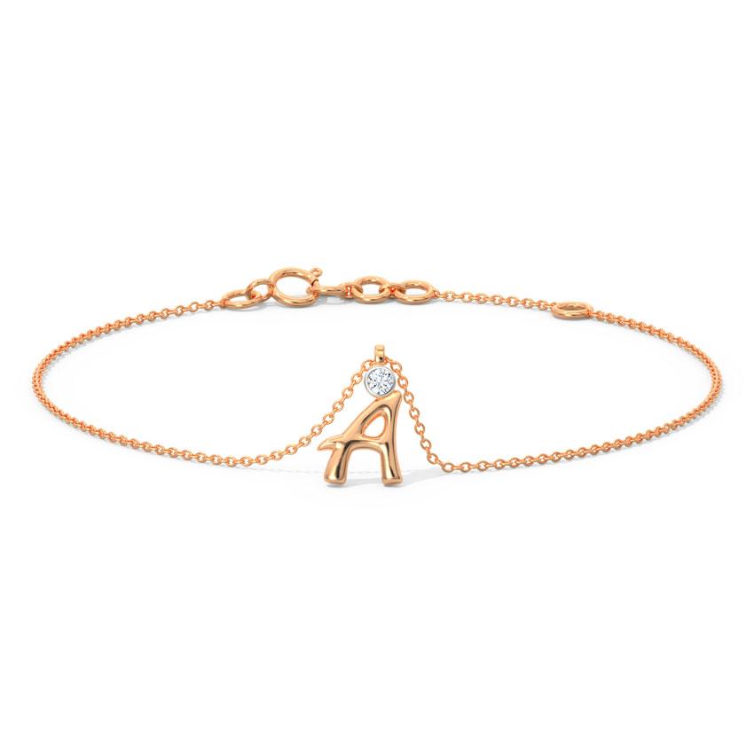 Alphabet A Charm Bracelet