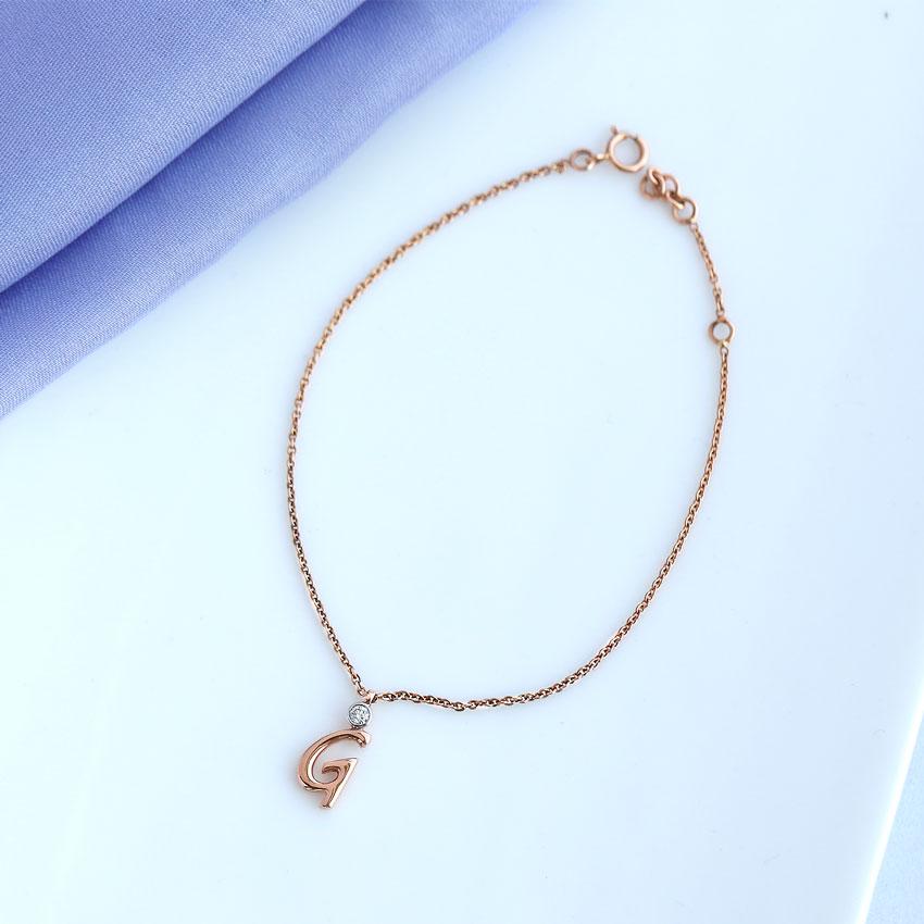 Alphabet G Charm Bracelet
