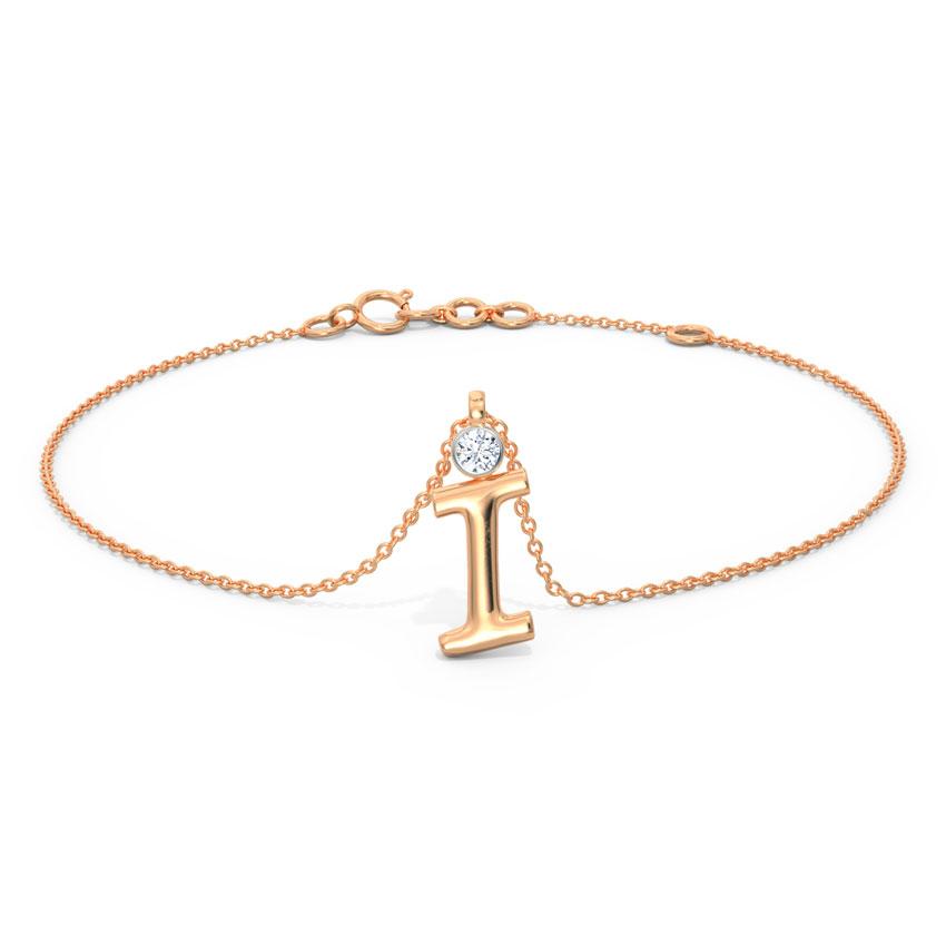 Alphabet I Charm Bracelet