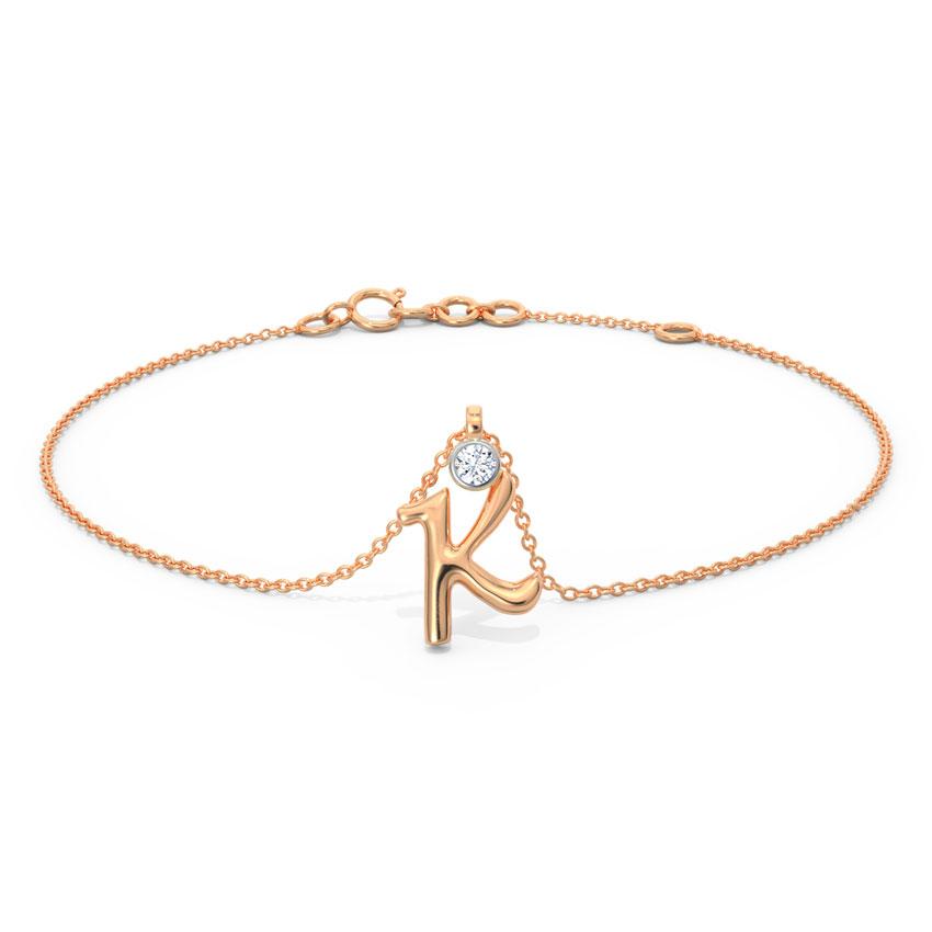 Alphabet K Charm Bracelet