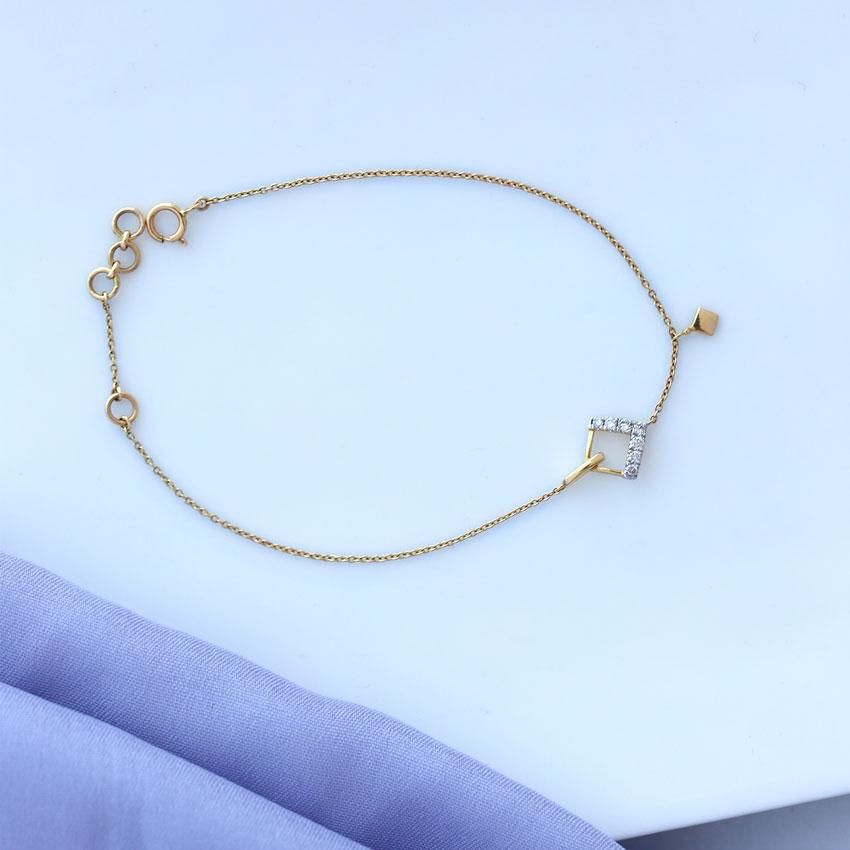 Diamond Bracelets 14 Karat Yellow Gold Sway Sparkle Diamond Bracelet