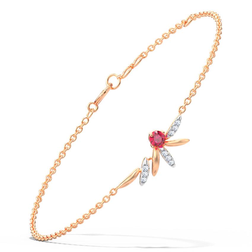 Diamond,Gemstone Bracelets 14 Karat Rose Gold Emile Gemstone Bracelet