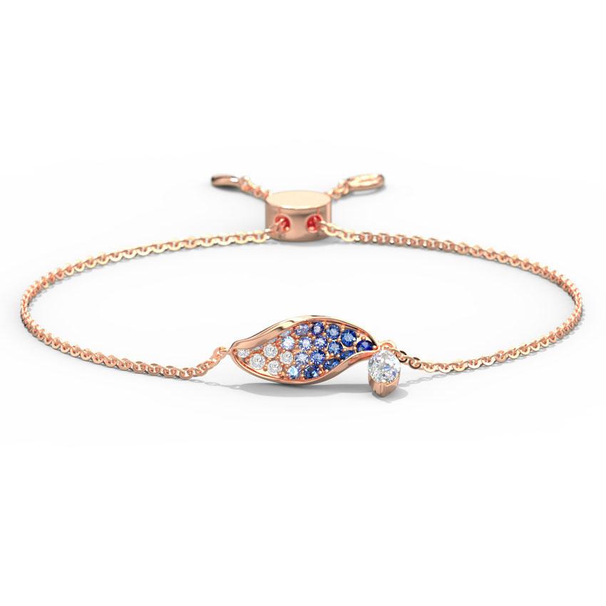Diamond,Gemstone Bracelets 18 Karat Yellow Gold Yale Dangling Bracelet