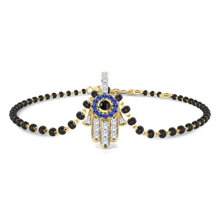 Hamsa Mangalsutra Bracelet