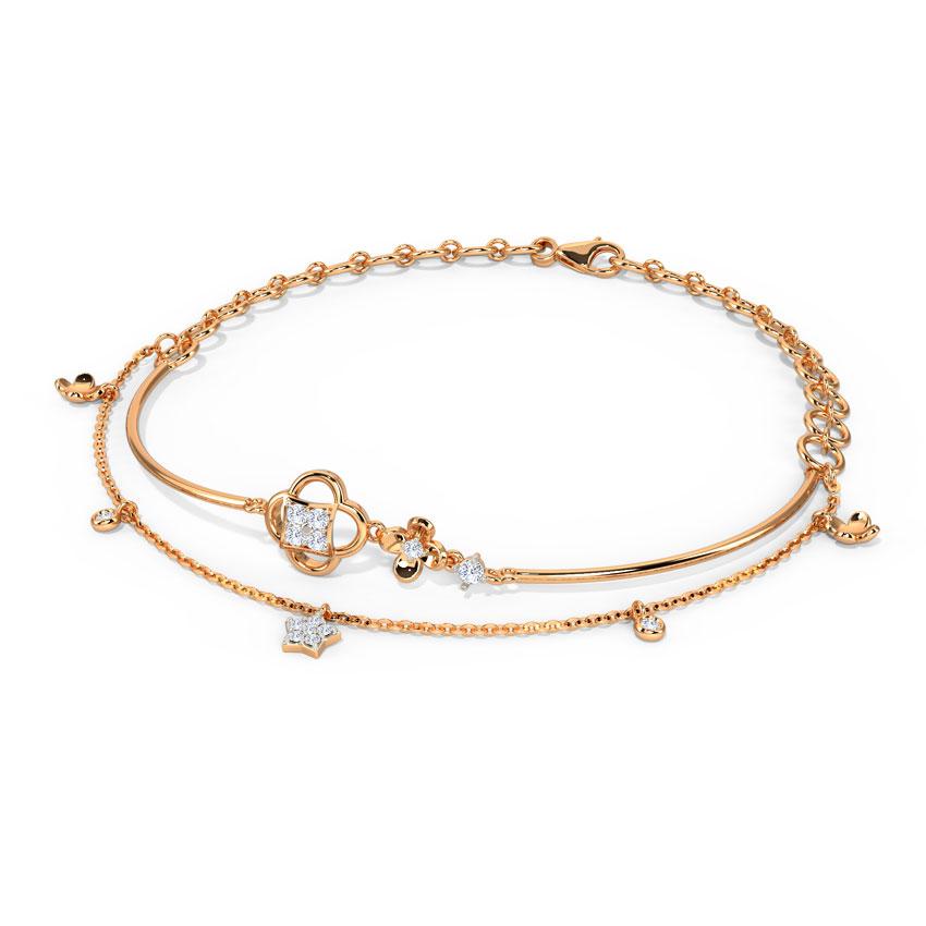 Glinting Clover Bracelet