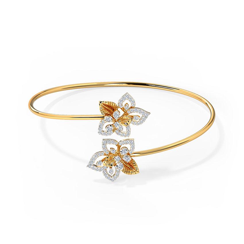 Diamond Bracelets 18 Karat Yellow Gold Enthrall Bloom Diamond Bracelet