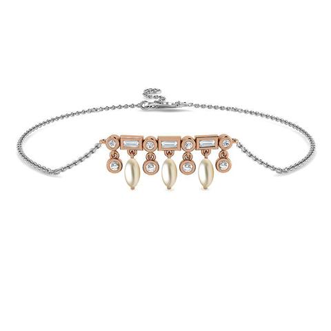 Diamond,Gemstone Bracelets 18 Karat Two Tone Gold Petals of Gemstone Bracelet