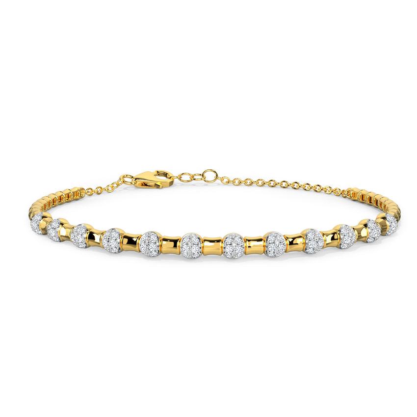 Diamond Bracelets 14 Karat Yellow Gold Celestial Diamond Bracelet