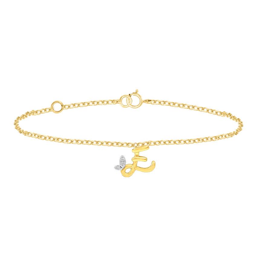 Leafy Alphabet E Bracelet