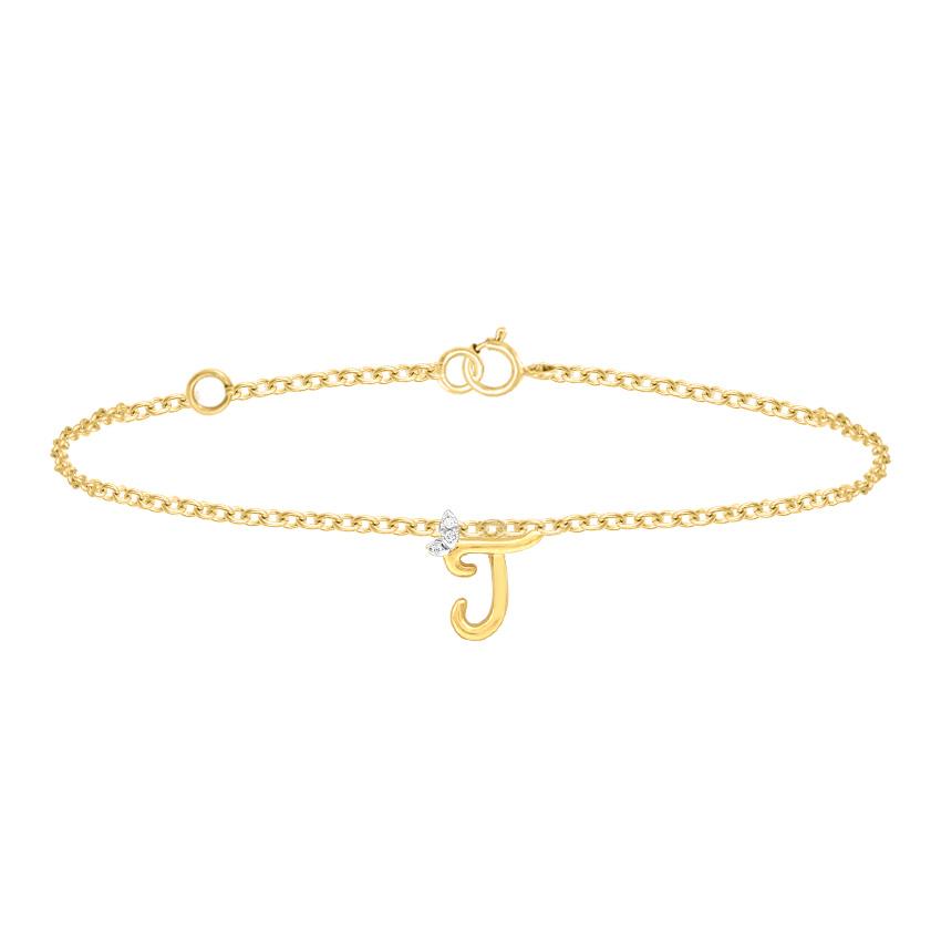 Leafy Alphabet J Bracelet