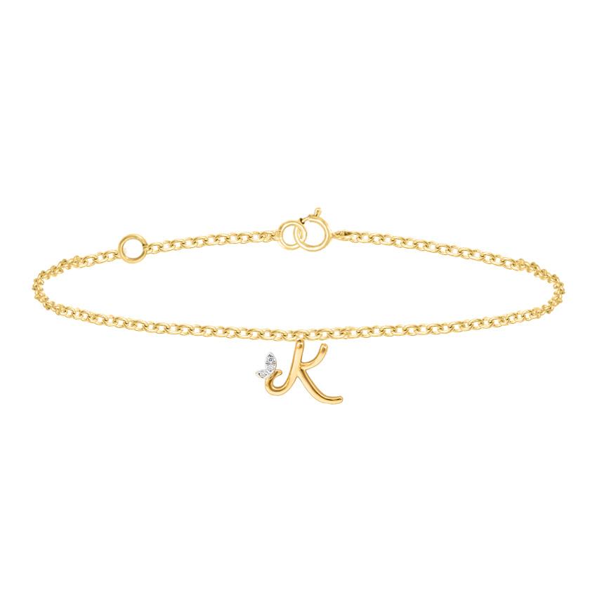 Leafy Alphabet K Bracelet