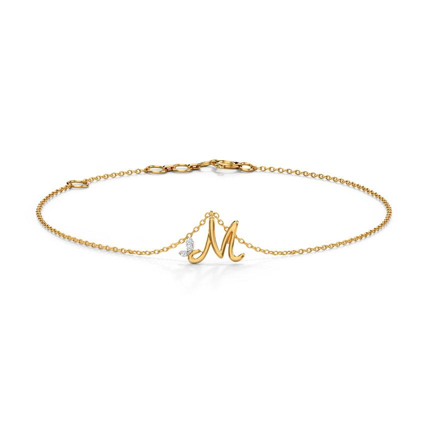 Leafy Alphabet M Bracelet