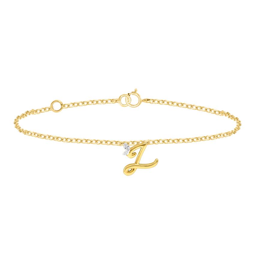 Leafy Alphabet Z Bracelet
