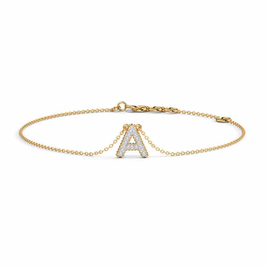 Dazzle Alphabet A Bracelet
