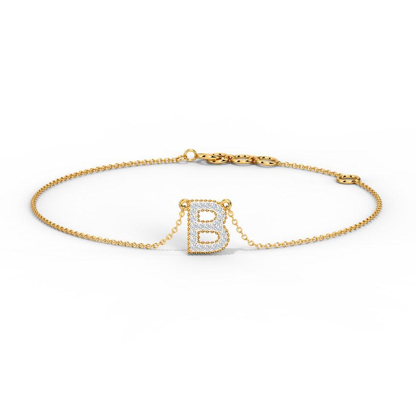 Dazzle Alphabet B Bracelet