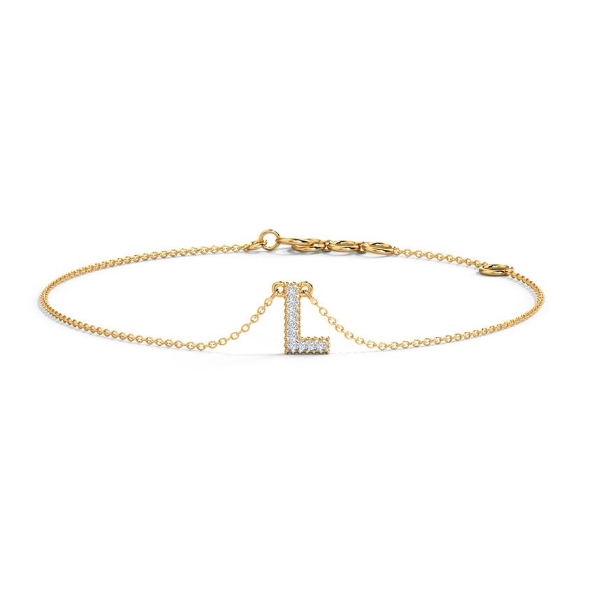 Dazzle Alphabet L Bracelet